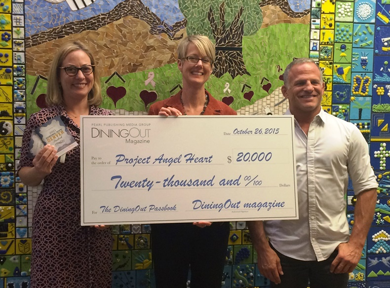 DiningOut Magazine Presents $20K Check to Project Angel Heart