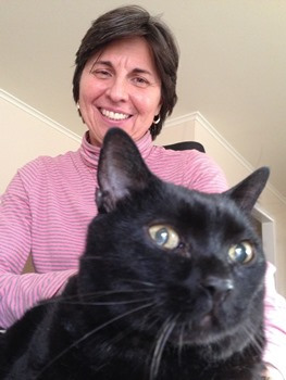 Julianne Despain with her cat, Bear