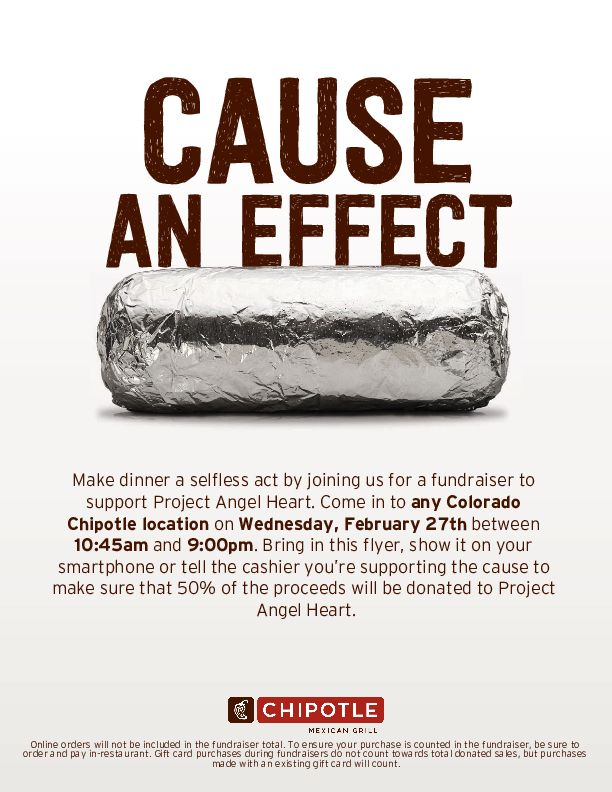 Chipotle Give Back Day @ All Colorado Chipotle Restaurants