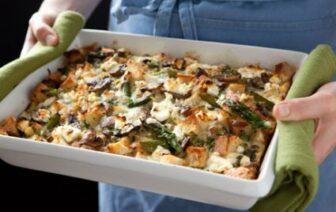 Portobello and Asparagus Egg Strata Breakfast, image courtesy of Whole Foods Market