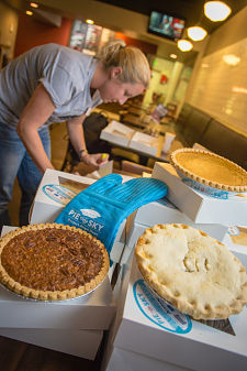 Thanksgiving Feast Sponsor Kirkpatrick Bank Providing Meals, Pies for Many This Holiday
