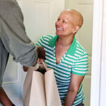 Client erika receives meal bag
