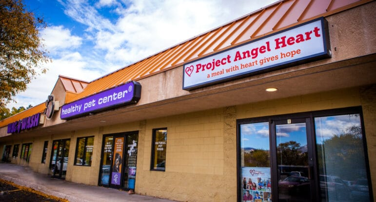 front entrance of Project Angel Heart's Colorado Springs office