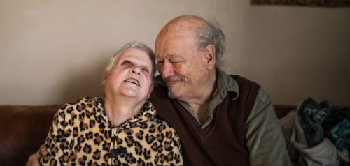 an older couple who receives Project Angel Heart meals